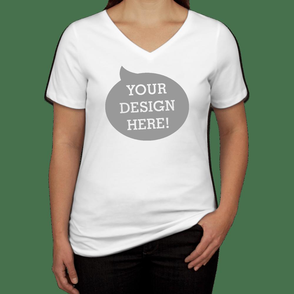 Bella Canvas Ladies V Neck T Shirt 6405 Tbsp La