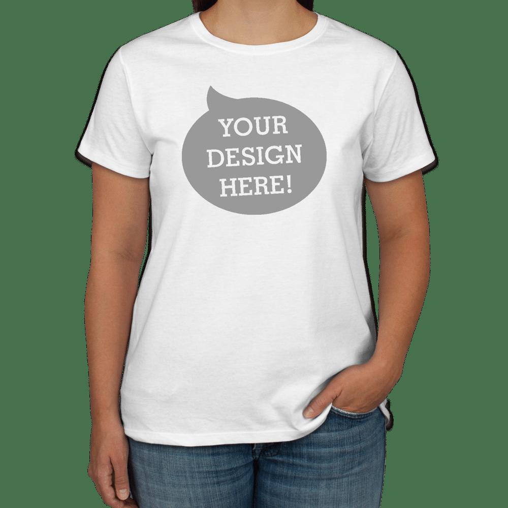 Hanes Ladies 100 Cotton T Shirt 5680 Tbsp La